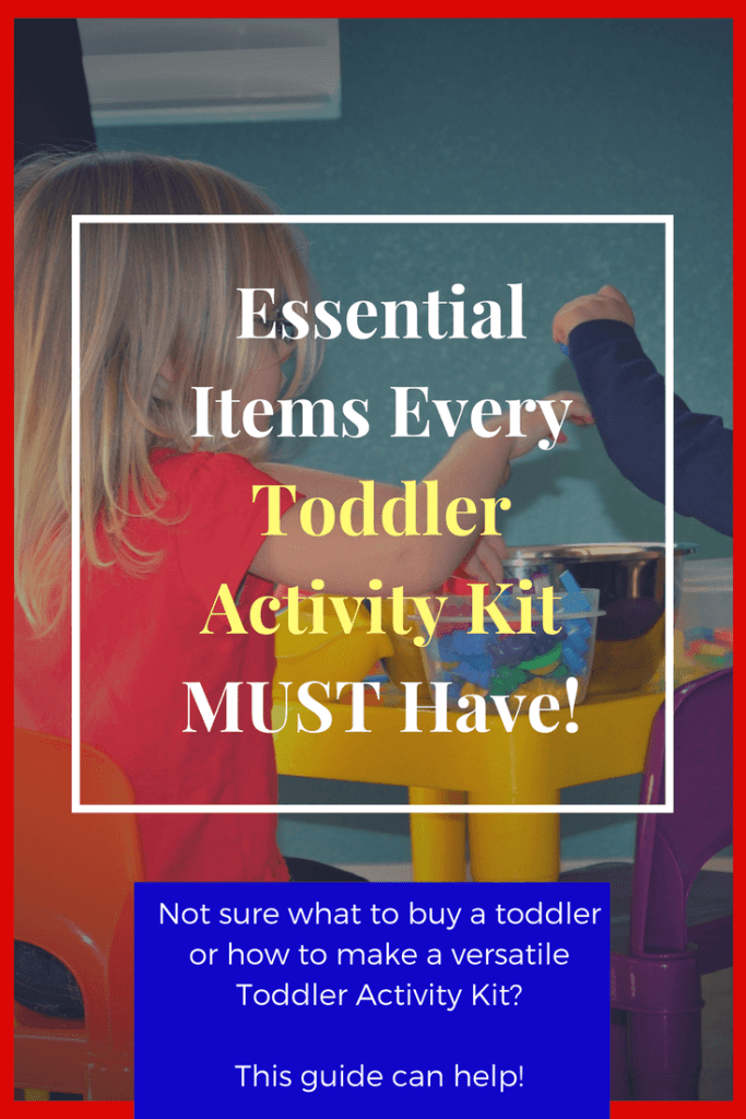 What is a toddler activity kit? How do I make a toddler activity kit? What else should I get a 1 year old for a birthday present or Christmas? Gift ideas for Big Brothers or Big sisters when a new baby arrives too! Could be used as a preschool activity kit too!
