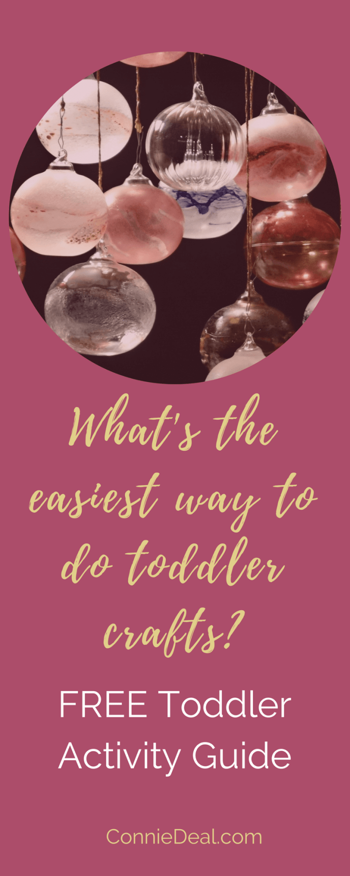 Toddler craft time made easy! You see all the fun things you can do with your toddler this holiday season, but exactly HOW do you go about making those activities easy to do? Find out in this article, which also includes a free Toddler Activity Guide. #toddleractivity #holidayactivity #toddlermom