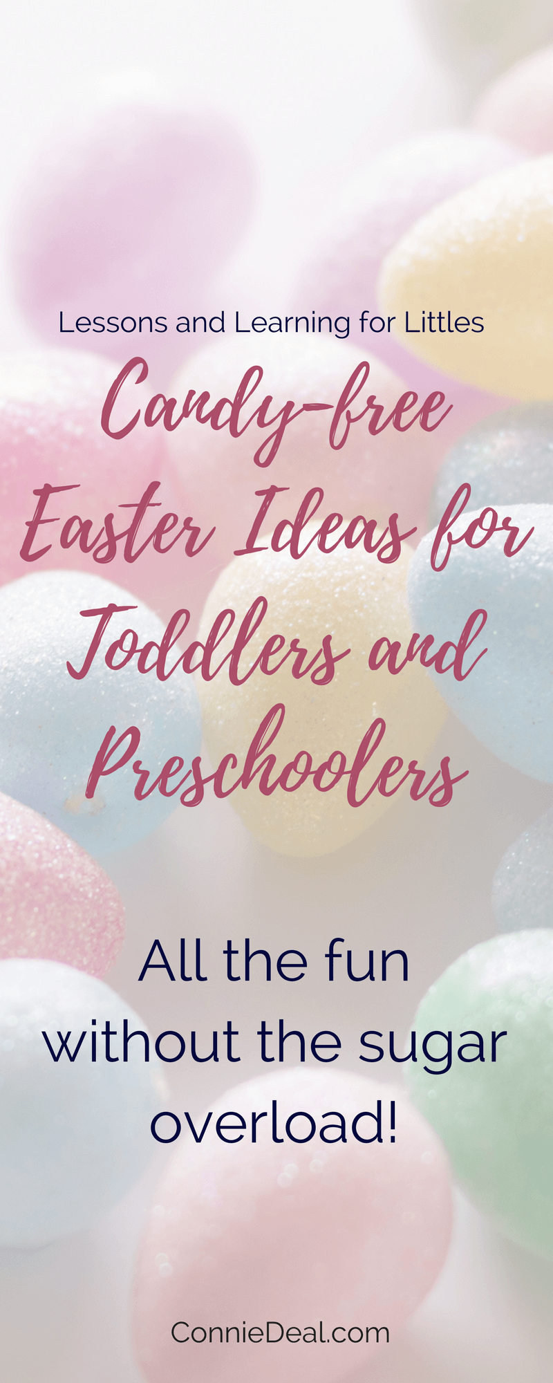 Wondering what to fill your toddler's Easter eggs with? Looking for candy-free options for #Easter or #Christmas stockings? Check out this list of fun ideas for #EasterBaskets and #EasterEggs for toddlers and preschoolers from Lessons and Learning for Littles.