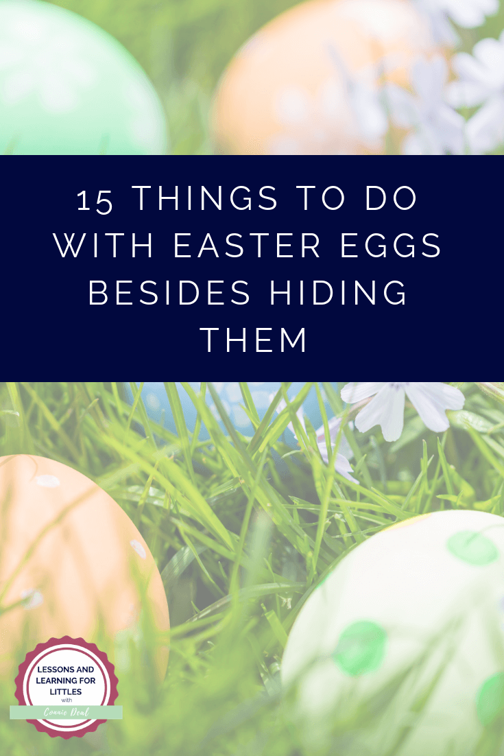 Are you looking for more ways to use your #Easter eggs? Would you like more fun Easter activities for your #toddler or #preschooler? Click through for 15 Easter Activities and things to do with #EasterEggs besides hiding them.