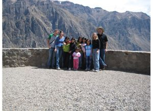 The girls from Lima with their gringos . . . us