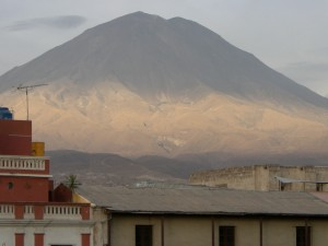 Volcano, called Misti, 10 miles outside Arequipa