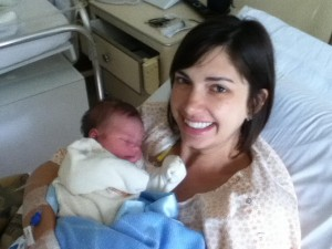Oliver with his mother, Erin