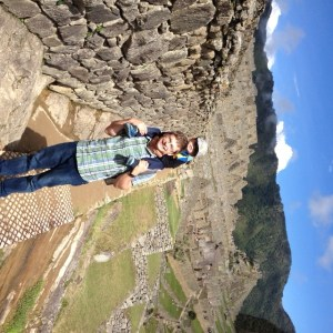 Brendan and Oliver at Machu Picchu