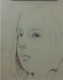 2017-02-25 Portrait - 'Imogen' (Oils) - Part 1 - Draw In