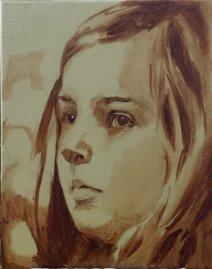 2017-02-25 Portrait - 'Imogen' (Oils) - Part 2 - Underpainting 1