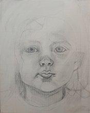 2017-03-04 Portrait - 'Grace' (Oils) - Part 1b Pencil Drawing Adjustment of Features
