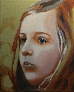 2017-03-08 Portrait - 'Imogen' (Oils) - Part 5c - Adding First Color