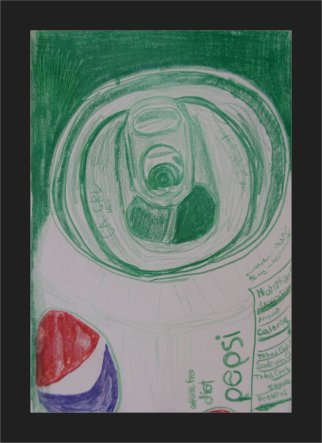 2012-10-23 Still Life - 'Pepsi Can' (Colored Pencils)
