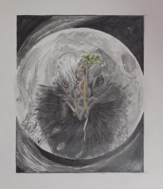 2015-05-26 Landscape (Fictional) - 'The Beginning and The End' (Graphite and Colored Pencil)