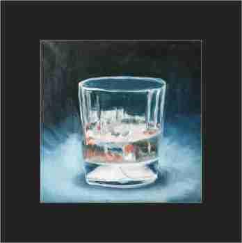 'Water Glass in Blur & Orange'