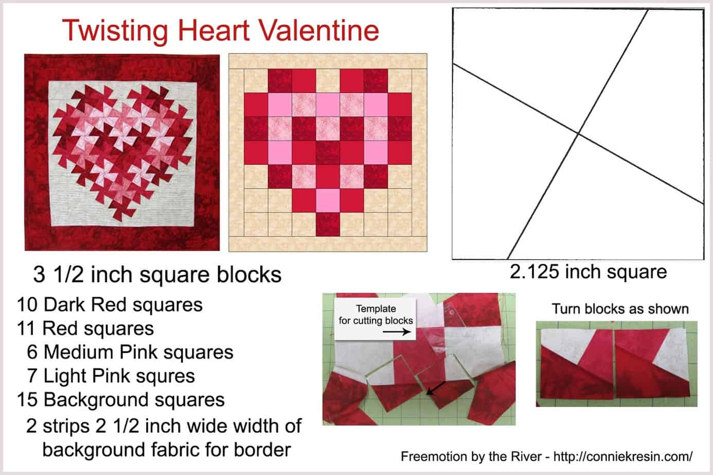 Twisting Heart Valentine Tutorial Freemotion By The River