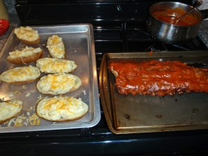 BBQ Ribs and Twice Baked Potatoes