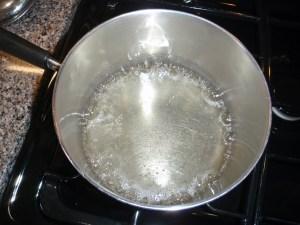Bring sugar mixture to a boil.
