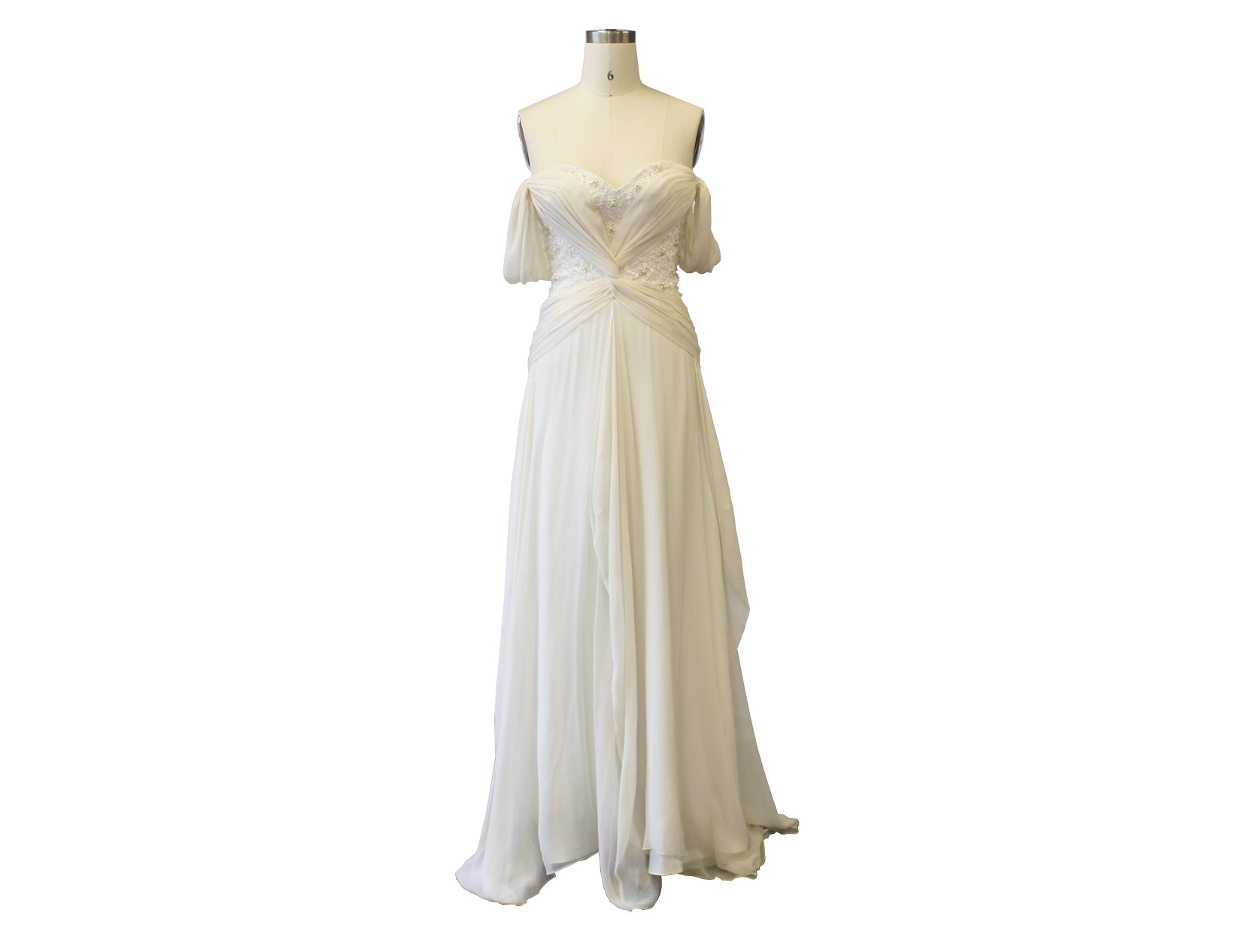 Drop Sleeve Soft A-line Gown
