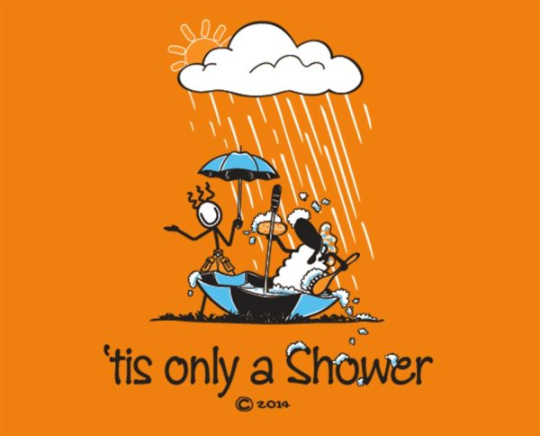 "Connemara clothing ""tis only a shower"" t-shirt"