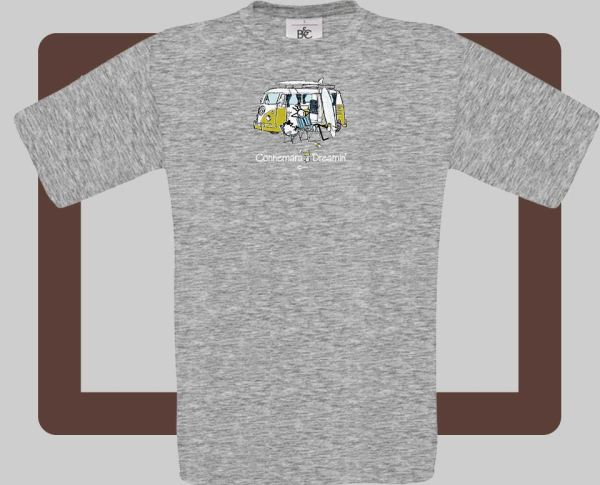 Our kids connemara grey t-shirts are bright and fun for kids of all ages | T-shirts from Conn O'Mara for Connemara kids.