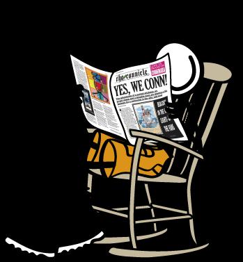 Checkout Conn OMara from Connemara enjoying the local newspaper