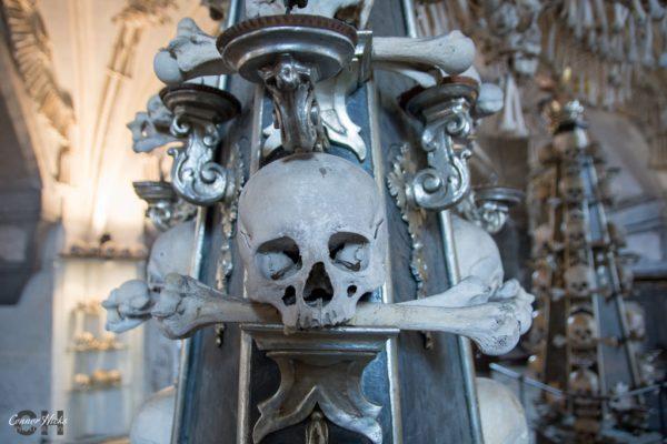 church of bones skulls czech