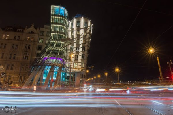 dancing house prague night photography