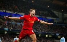 Photo of Gerrard celebrating vs City