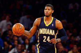 Paul George in action