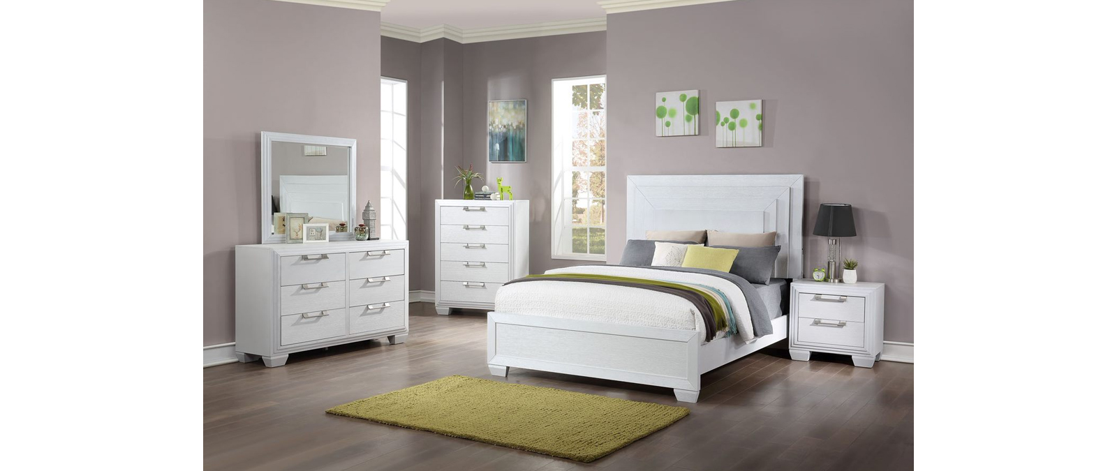 Fantasy Youth Bedroom Queen Bed 3pc Set