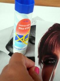 Incollate con la colla - Glued with glue.
