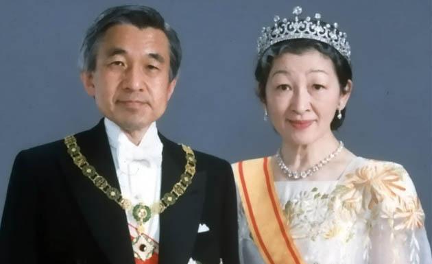foto del emperador de Japón con su esposa