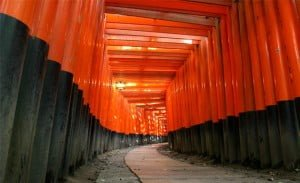 Camino de Torii en Fushimi Inari