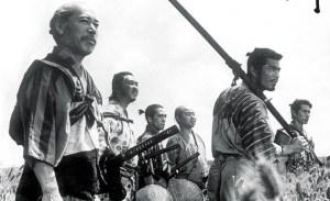 escena de Los Siete Samuráis de Akira Kurosawa