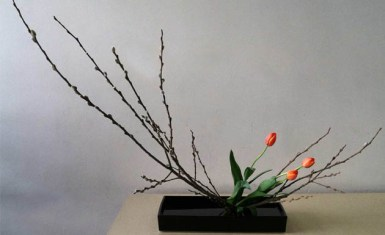 arreglo floral de ikebana - palabras intraducibles del japonés