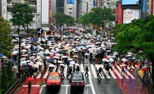 Cruce de peatones en Shibuya