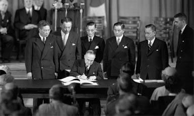 firma de los Tratados de San Francisco