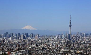 Tokyo Sky Tree y monte Fuji