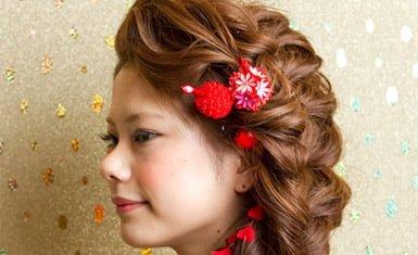 peinado furisode