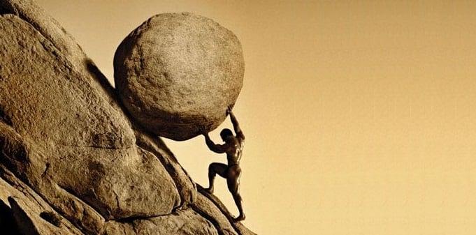 No importa cuántas veces Sísifo llevara la roca a la cima, tenía que volver a empezar