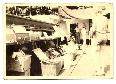 Barco danés, mercancía de Mariano Torres. Década de los 50