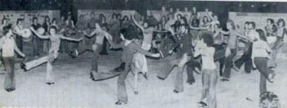 Ensayando en el Castillo de la Luz 1975