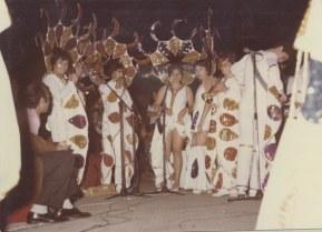 De izquierda a derecha, Carmelo, ....., Fita, Mary Carmen, Marrero y Manolo