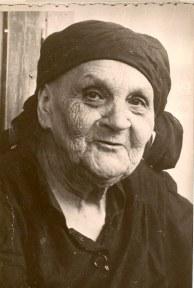 """María Montesdeoca Macias. De los """"Monicos"""". Con luto riguroso tras morir su marido Francisco."""