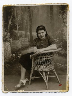 Año 1938. Francisca Rodriguez Laso madre de Delia Vega. Foto de Delia Vega