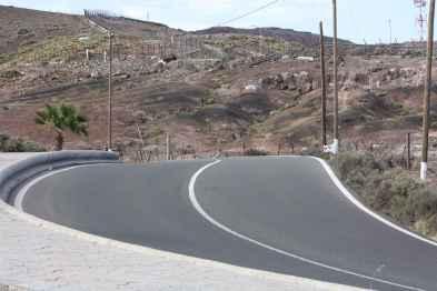 Carretera de subida a Las Coloradas