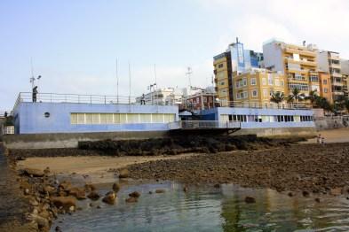 Zona de marisqueo de la Puntilla, se observa como la arena se va acumulando