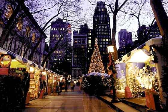 Bryant Park Holiday Market via Pinterest.com
