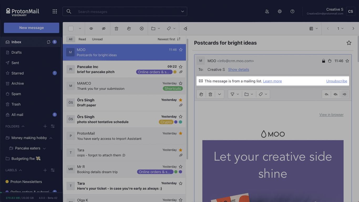 ProtonMail el correo que los expertos en seguridad recomiendan 3