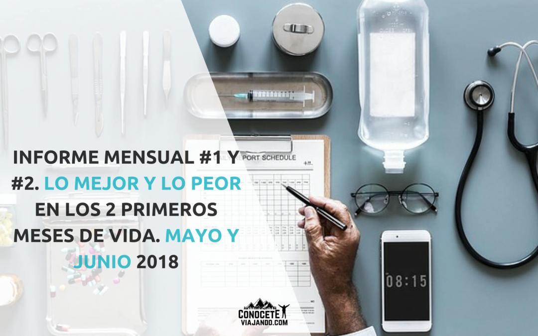 Informe mensual #1 y #2: Lo mejor y lo peor en los 2 primeros meses de vida, Mayo y Junio 2018