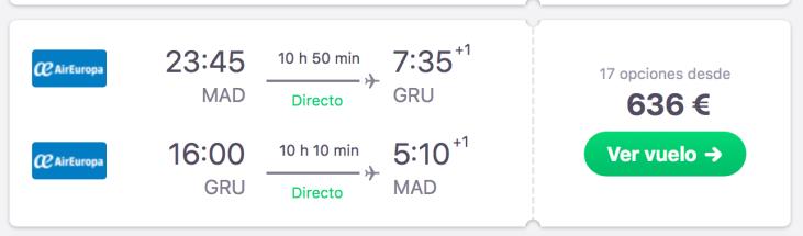 precio de vuelo para viajar al pantanal de Brasil