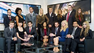 The contestants on BBC's The Apprentice show