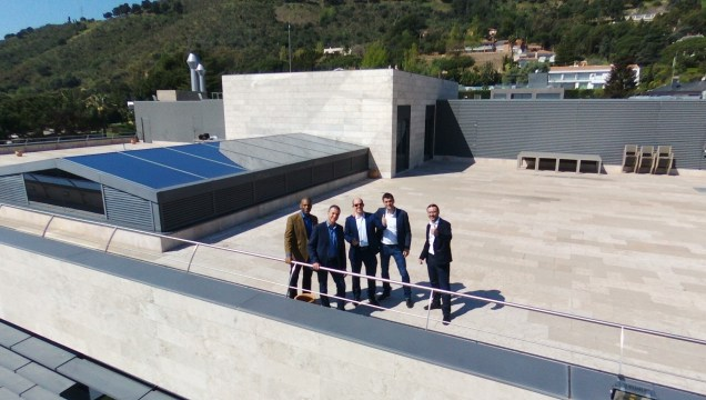 Tony, John, Conor, Florian and Tobias on the IESE roof